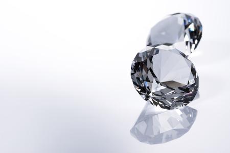 diamond stones: Diamond on white