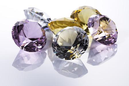 Jewels on white  版權商用圖片