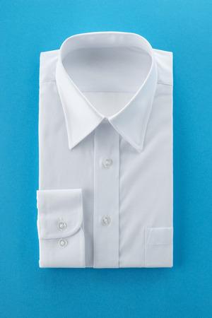 white shirt: new business shirt on blue background