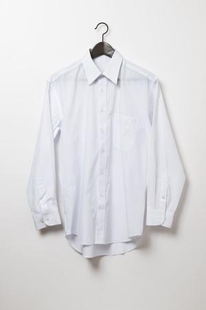 shirt hanger: White shirt and hanger