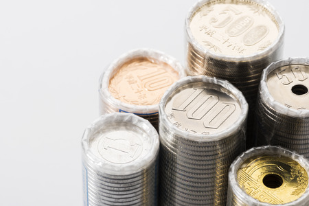 japanese currency: the bundled coin of japanese currency