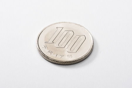 100 yen coin, currency of japan