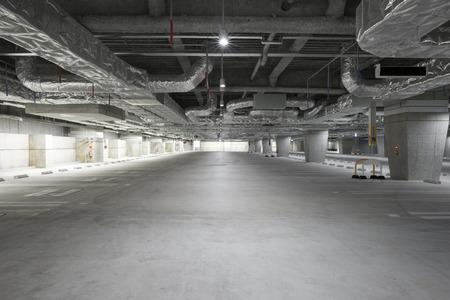 vacancies: Unmanned underground parking Stock Photo