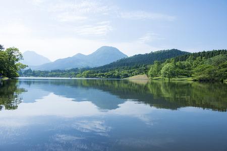 shidaka lake oita prefecture japan