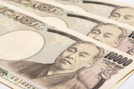1 万円札をクローズ アップ