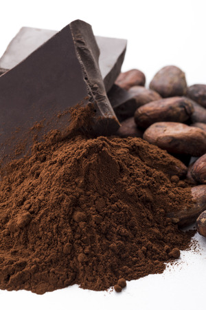 cocoa powder: Chocolate and cocoa powder and cocoa beans