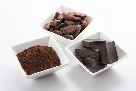 cocoa beans: Chocolate and cocoa powder and cocoa beans