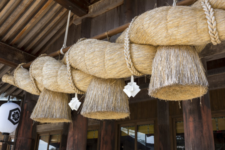 unattended: Rope of Izumo Taisha shrine