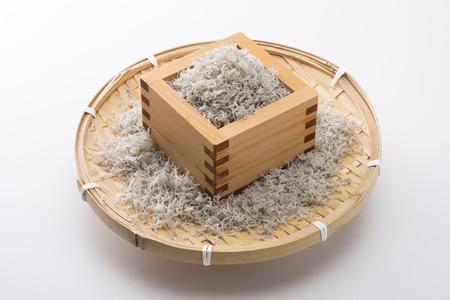 whitebait: Chirimenjako in the squares Stock Photo