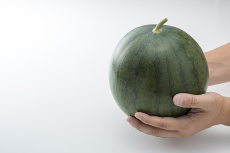 human beings: Watermelon that was in his hand