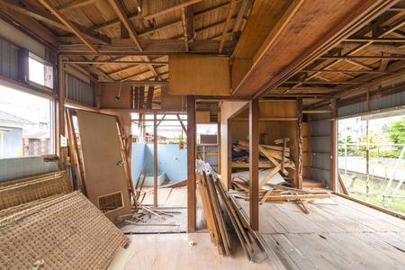 Demolition of houses Фото со стока