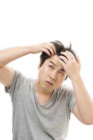 男性脱毛について懸念しています。 写真素材