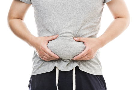 Fat male stomach