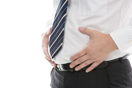 Fat businessman's stomach Stok Fotoğraf - 80094089