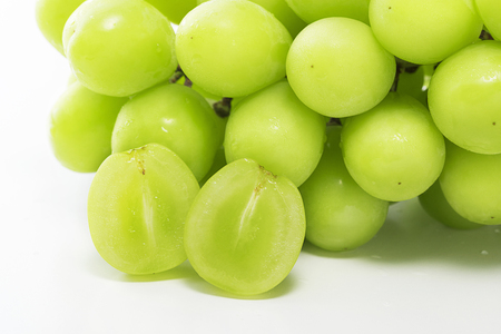 Shine Muscat, Seedless grape varieties Stock Photo - 93621800