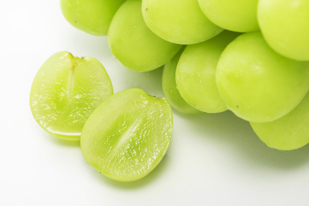 Shine Muscat, Seedless grape varieties Stock Photo - 93621801