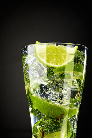 Mojito, famous rum-based highballs.