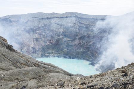 Le mont. Volcan Aso Banque d'images