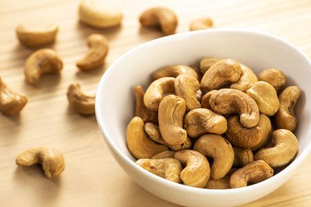 Peeled cashew, close-up Banco de Imagens