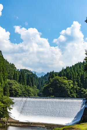Hakusui dam, Oita Prefecture Japan.