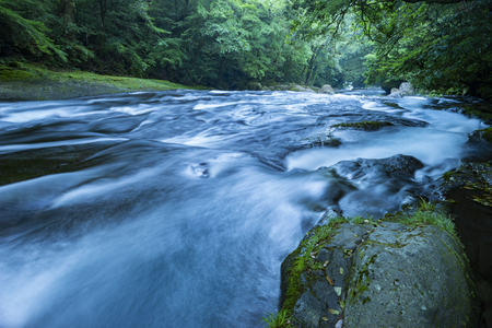 Kikuchi Valley, Kumamoto Japan. Reklamní fotografie