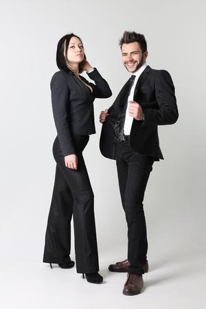 Fashion man and woman Stock Photo