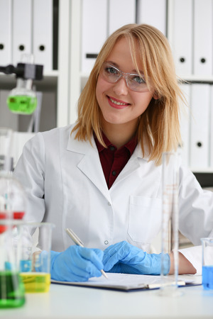 Female chemist in the laboratory of biological