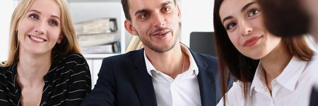 Smiling arab man in suit shake hands
