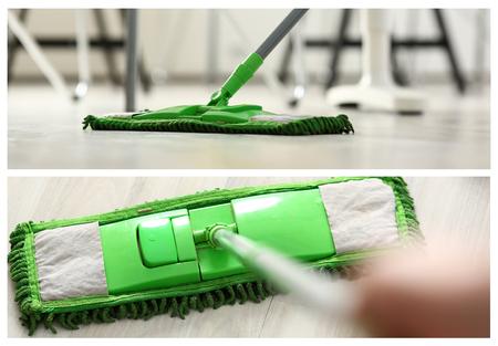 Green plastic mop