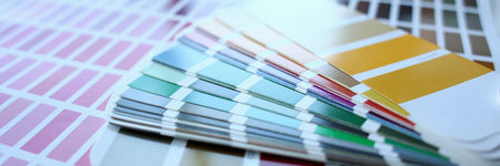 Color print of pantone statistics offset Stock Photo
