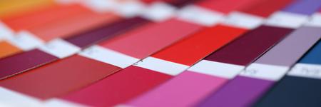 Color print of pantone statistics offset Stock Photo