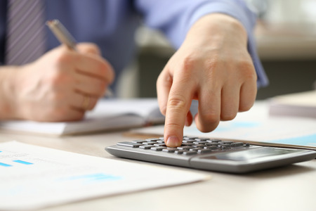 Accountant Manager do Bookkeeping Calculate Budget Standard-Bild
