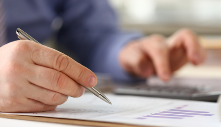 Bank Worker do Business Income Accounting Concept Stockfoto - 121062772