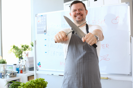 Blogger Chef Sharpening Steel Knife Photography