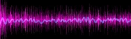 Violet sound equalizer wafe concept Imagens
