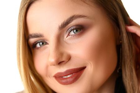 Beauty Closeup Portrait of Caucasian Young Woman