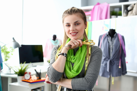 Tailoing Business Concept Fashion Needling Service