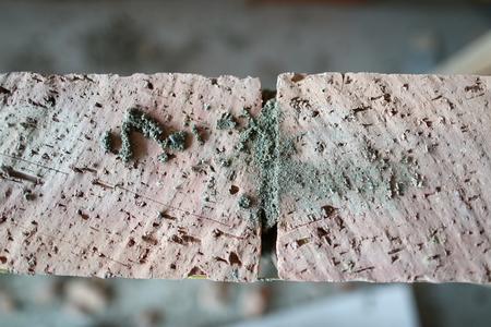 Brickwork laid in big room