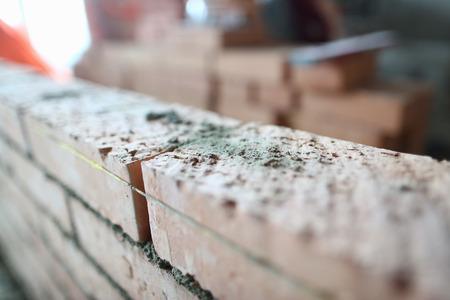 Professional brick laying Stock Photo