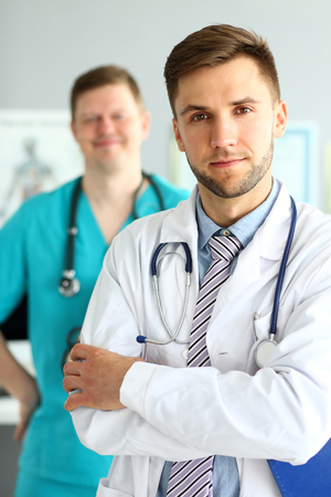 Doctor with crossed arms