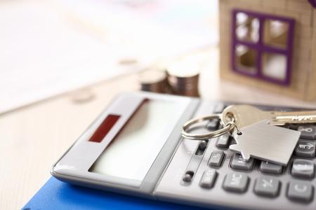 Calculator, Key, Keychain Broker Business Elements