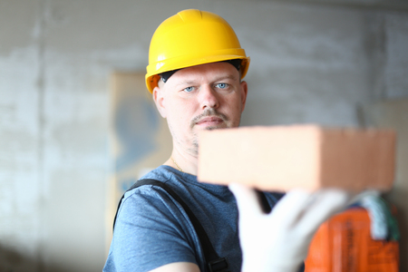 Serious worker in hardhat