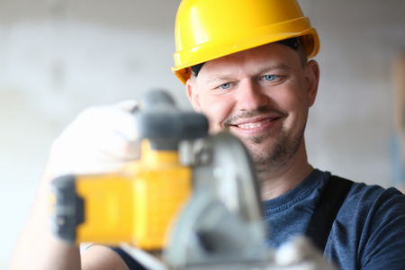 Happy man and new tool