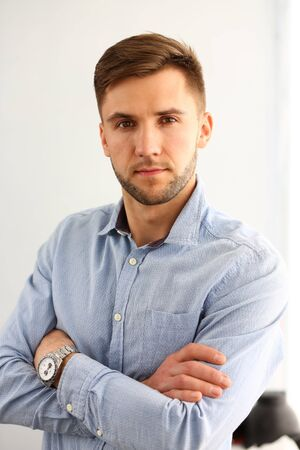 Portrait of smart and handsome male in classy Stockfoto