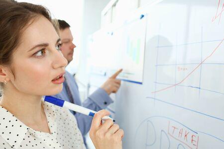 Smart woman work