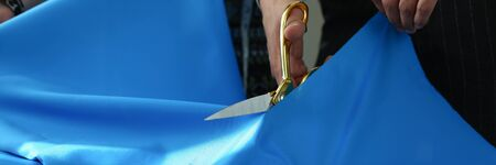 Tailoring Handmade Needlework Closeup Picture 写真素材