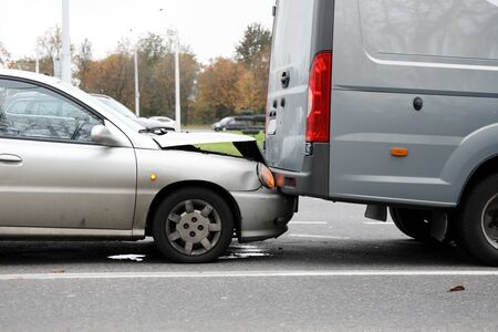 Car crushed hood bumping into truck, dangerous. Call an insurance company representative. Right to recover funds from guilty driver. Passing an alcohol test. Deprivation rights or fine in court