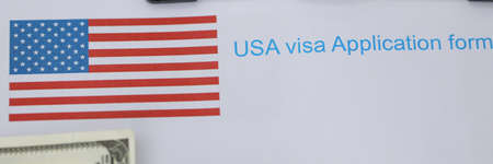Application for visa to usa, passport and money. Visa check for readiness. Briefing on visiting embassy. Specialized profiles and SEVIS-fee payment. Successfully pass an interview and get passport