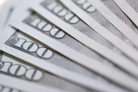 Closeup of many american dollar bills background