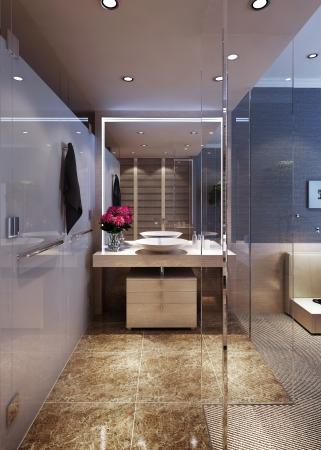 Bathroom interior Editorial